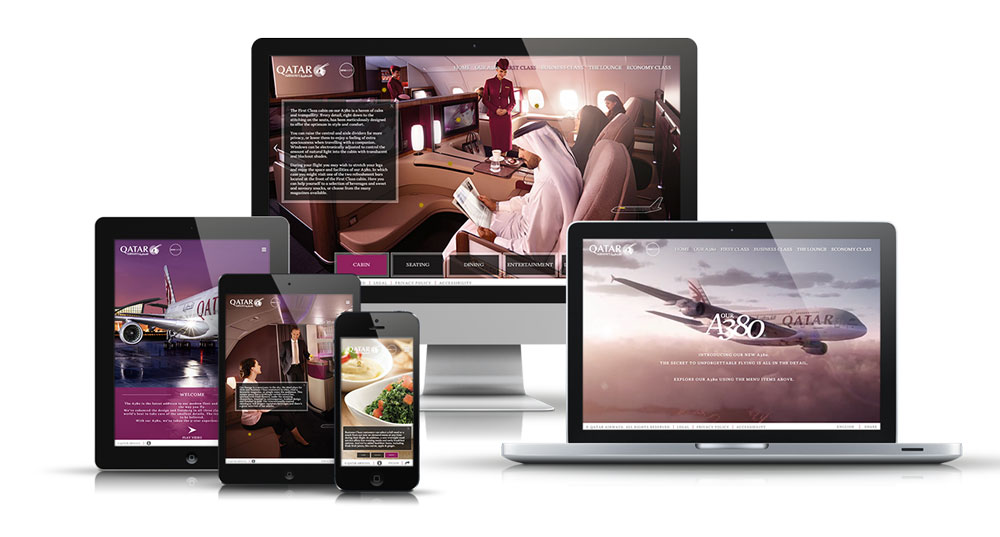 Qatar Airways A380 Microsite
