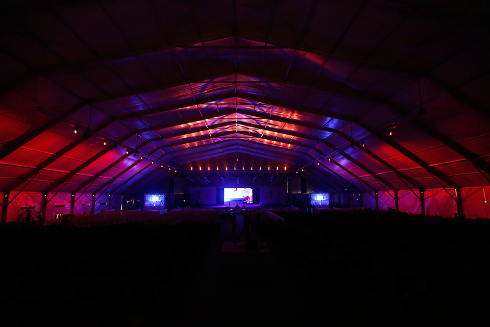 Tent of entertainment
